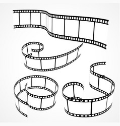 Collection of 3d film strips vector