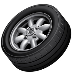 Compact cars wheel vector image vector image