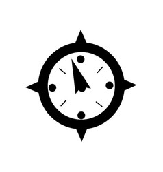 contour compass object to travel in map direction vector image vector image