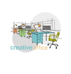 Creative office space vector