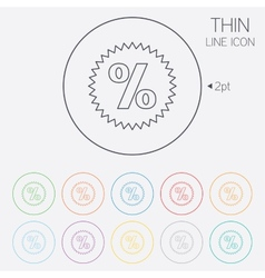 Discount percent sign icon Star symbol vector image