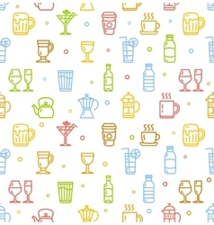 Drink Background for Bar Restaurant vector image