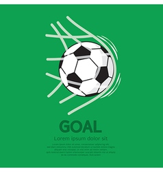 Football or Soccer Ball In Net vector image vector image