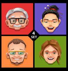 funny face -set 4 vector image
