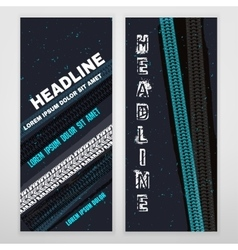 Grunge Tire banner vector image vector image