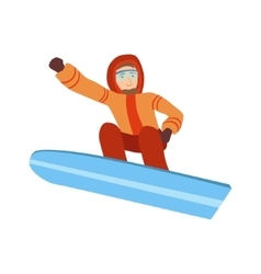 Guy snowboarding winter sports vector