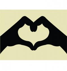 Heart shape hand gesture vector