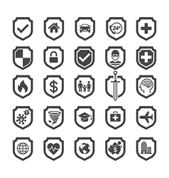 Insurance policy shield icon design vector