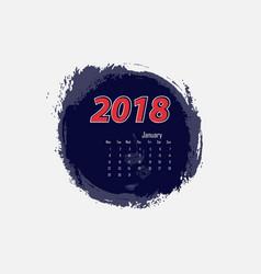 january 2018 calendar templates vector image