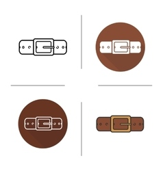 Leather belt icon vector