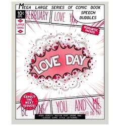 Love series pop art speech bubble vector