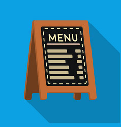Menu of pizzeria icon in flat style isolated on vector