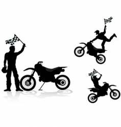 motocross rider vector image vector image
