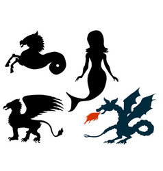 Mythological creatures vector