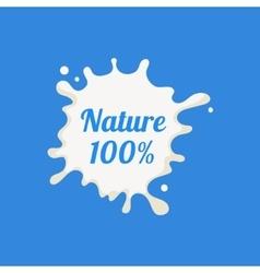 Nature milk product logo vector