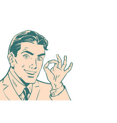 ok gesture of businessman isolated background vector image