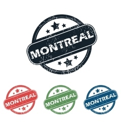 Round montreal city stamp set vector