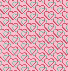 Seamless pattern of joint heart vector image vector image