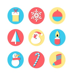 set of icons for the New Year vector image vector image