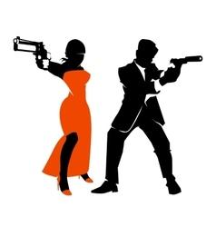 Spy couple set vector image