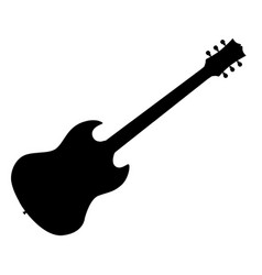 Standard electric guitar vector