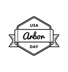 Usa arbor day greeting emblem vector