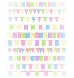 Vertical greeting card with set of cartoon flag vector