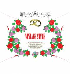 vintage style frame vector image vector image