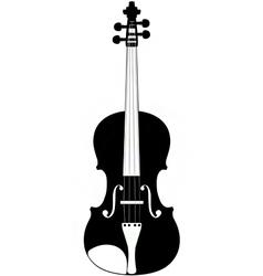 violin silhouette vector image vector image