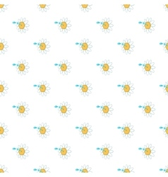 Watering flower pattern cartoon style vector