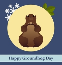 With groundhog and text vector
