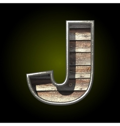 wooden cutted figure j vector image vector image