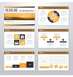 Infographics presentation template flat design vector
