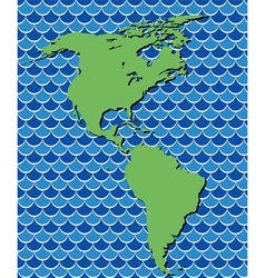 map of north and south america vector image