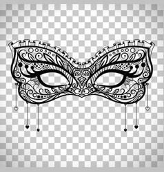 Elegant carnival mask on transparent background vector