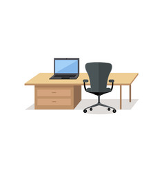 Workplace empty isolated design office interior vector