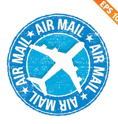 Stamp sticker air mail collection - - eps10 vector