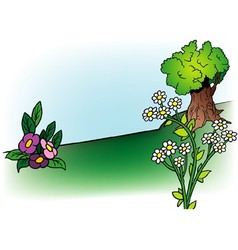Flowers And Tree vector image