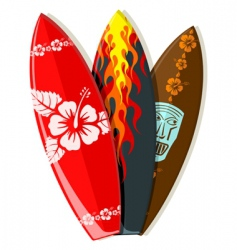 Surf boards vector