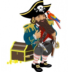 Pirate illustration vector