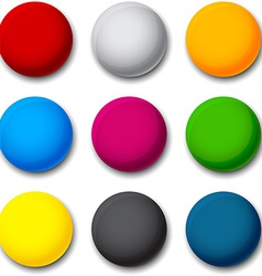 Round colorful balls vector