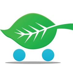 Nature cart icon vector