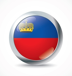 Liechtenstein flag button vector