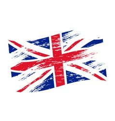 Color united kingdom national flag grunge style vector