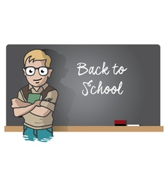 Studen and blackboard vector