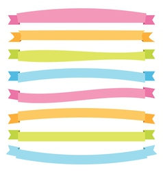 Banner ribbons vector