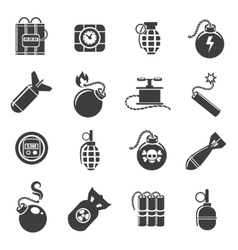 Bomb and explosives icons vector image vector image