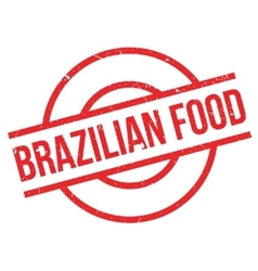 Brazilian Food rubber stamp vector image vector image