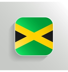Button - Jamaica Flag Icon vector image vector image