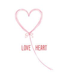 Calligraphic doodle love sign with handwritten vector